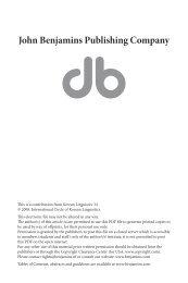 ta in spoken discourse - John Benjamins