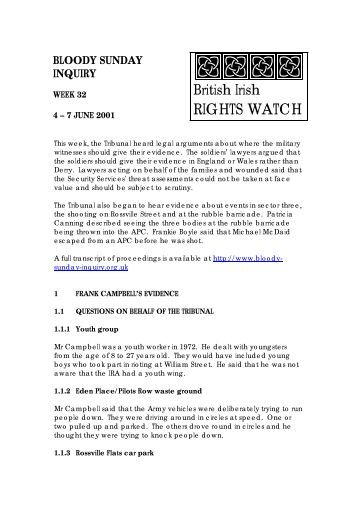 1 FRANK CAMPBELL'S EVIDENCE - British Irish Rights Watch