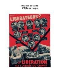 Histoire des arts L'Affiche rouge - Histoire géographie Dijon