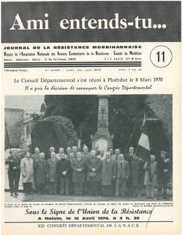 Télécharger le numéro 11 - Les Amis de la Résistance du Morbihan