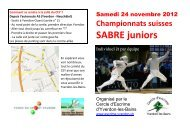 Championnats suisses SABRE juniors