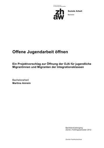 Bachelorarbeit von Martina Amrein 2012_Öffnung der OJA für