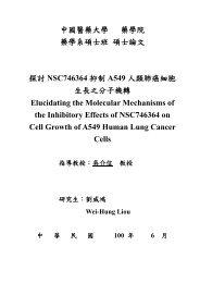 中國醫藥大學 藥學院 藥學系碩士班 碩士論文 探討 NSC746364 抑制 ...