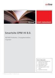 Smartsite EPM HI 8.0. 100'000 Produkte, 5 Ausgabemedien, 1 System