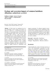 Ecology and ecosystem impacts of Rhamnus cathartica