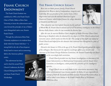 Frank Church Institute Brochure - College of Social Sciences ...