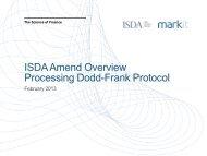 ISDA Amend Overview Processing Dodd-Frank Protocol - Markit.com