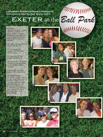 EXETER at the Ball Park - Phillips Exeter Academy