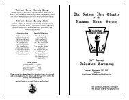 National Honor Society Induction Program