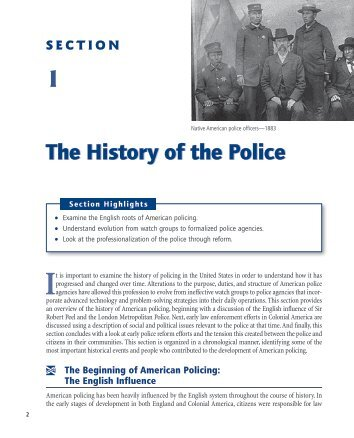 The History of the Police - Sage Publications