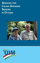 SERVICES FOR ITALIAN SPEAKING SENIORS IN OTTAWA - Ital-Uil