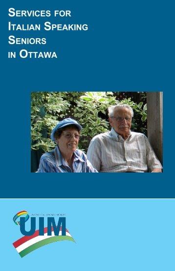 SERVICES FOR ITALIAN SPEAKING SENIORS IN OTTAWA - Ital-Uil