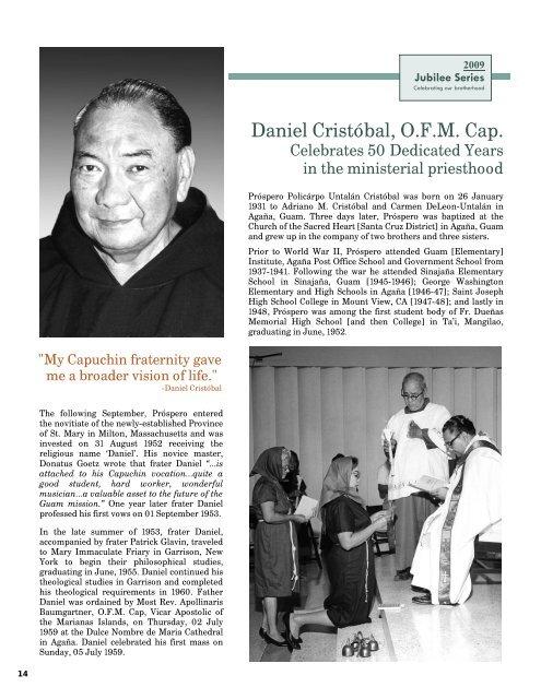 Daniel Cristóbal, O F M  Cap  - Capuchin Franciscans