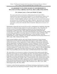 Leadership Outcomes Based on Membership in Multicultural Greek