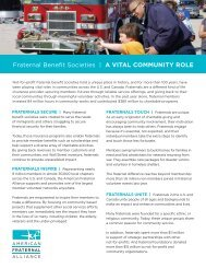 Fraternal Benefit Societies   A vITAL COmmUNITy ROLE - American ...