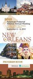 2012 Alliance Program Book - American Fraternal Alliance