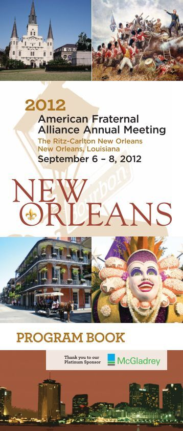 2012 Alliance Program Book - American Fraternal Alliance