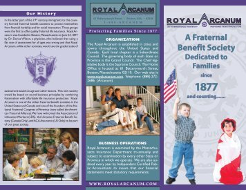 A Fraternal Benefit Society - the Royal Arcanum
