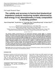 The validity and accuracy in foot-to-foot bioelectrical impedance ...
