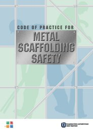 CODE OF PRACTICE FOR METAL SCAFFOLDING SAFETY