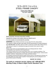 10 X 20 Max Ap Canopy 8 Leg Camping World