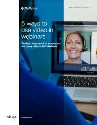 5 ways to use video in webinars
