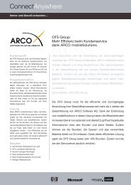 ARCO Referenzbericht ConnectAnywhere OFS - Omikron Data AG