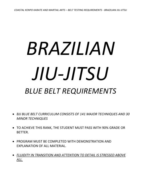 Brazilian Jiu-Jitsu - Coastal Kenpo Karate and Martial Arts