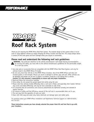 rhino roof rack fitting instructions