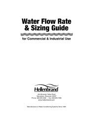 Water Flow Rate & Sizing Guide - Hellenbrand
