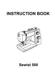 INSTRUCTION BOOK - Janome