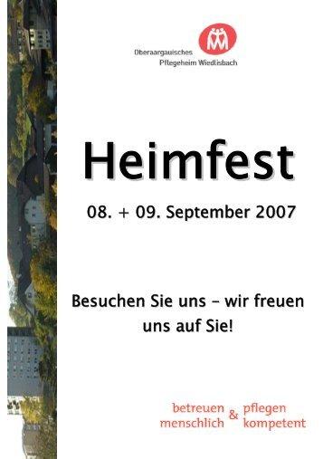 Heimfest - Oberaargauisches Pflegeheim