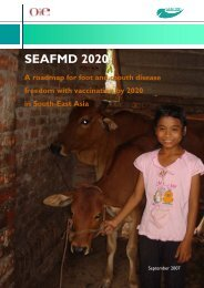 SEAFMD 2020 Roadmap - OIE Regional Coordination Unit Bangkok
