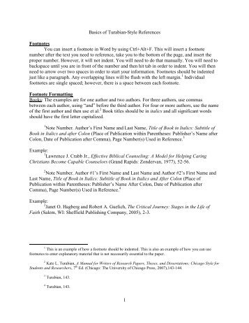 chicago style bibliography dissertations 17 notes-bibliography style: citing specific types of sources  kate l turabian , university of chicago's dissertation secretary, assembled a booklet of.