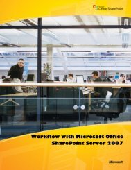 Workflow with Microsoft Office SharePoint Server 2007