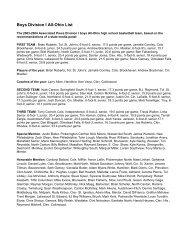 Boys Division I All-Ohio List - Ohio High School Athletic Association