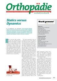 Statics versus Dynamics - Footpower