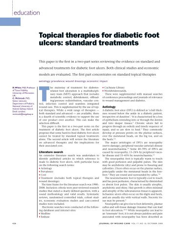 Topical therapies for diabetic foot ulcers: standard treatments