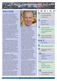 Lewis School Newsletter 4 - Lewis School Pengam