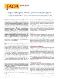 Diagnosis and Management of Piriformis Syndrome - JAOA — The ...