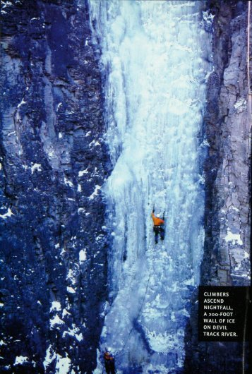 climbers ascend nightfall, a 200-foot wall of ice on devil ... - webapps8