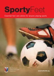 Sporty Feet - Society of Chiropodists and Podiatrists