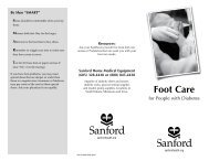 Sanford Diabetic Foot Care Brochure - Sanford Health