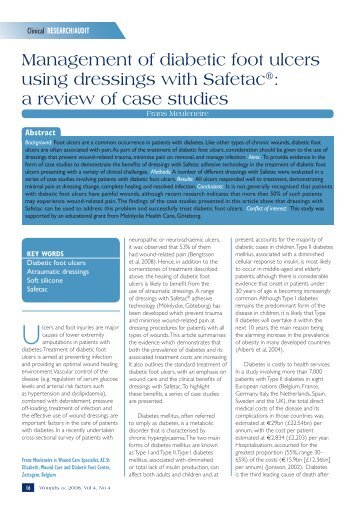 Management of diabetic foot ulcers using dressings ... - Wounds UK