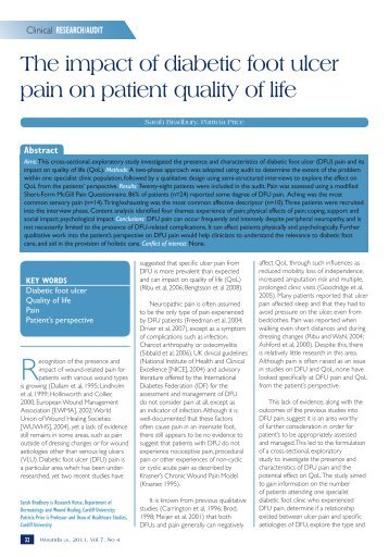 The impact of diabetic foot ulcer pain on patient quality ... - Wounds UK