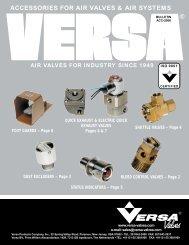 ACCESSORIES FOR AIR VALVES & AIR SYSTEMS - Versa Valves