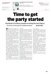 Townsville Bulletin – Ian Frazer – Time to get the