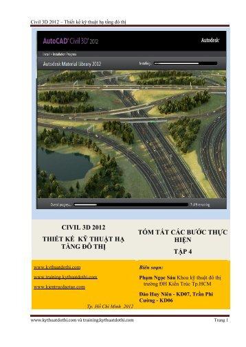 Civil3D 2012 - tom tat lenh tap 4