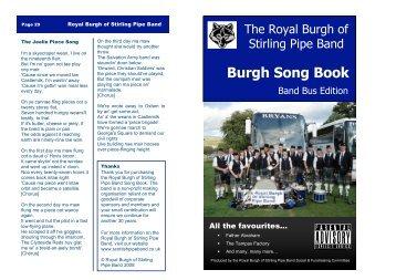 Burgh Song Book - Horntip