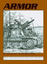 ARMOR, September-October 1991 Edition - Fort Benning - U.S. Army